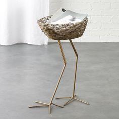 CB2 - January Catalog 2017 - bird basket side table