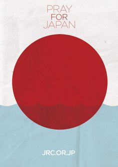 """Pray for Japan"" poster by Adam Glynn-Finnegan for Japanese Red Cross"