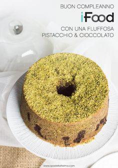 Fluffosa_Pistacchio_e_cioccolato American Cake, Good Food, Yummy Food, Plum Cake, Angel Cake, Chiffon Cake, Sponge Cake, Cake Cookies, Nutella