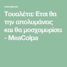 Τουαλέτα: Ετσι θα την απολυμάνεις και θα μοσχομυρίσει - MeaColpa