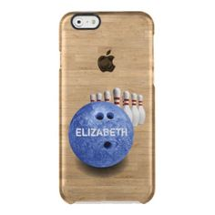 Blue Bowling Custom Ball iPhone 6 Case