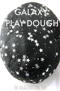 Space Stars Galaxy Play Dough and Space Small World - The Imagination Tree - Make galaxy play dough for exciting space themed imaginative play and small world play set ups. Space themed play dough fun for preschoolers to enjoy!