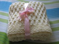 As Sweet As Honey Baby Blanket - Knitting Patterns by Anjali M.