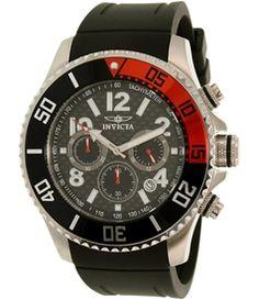 Invicta Men's Pro Diver 13727 Black Rubber Quartz Watch