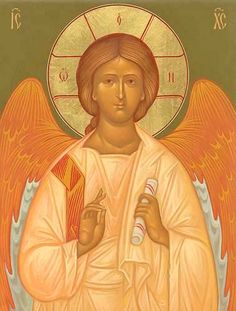 Icon of Our Savior Jesus Christ - Angel of the Great Council. Painted by Mother Anastasia. Religious Images, Religious Art, Jesus Art, Jesus Christ, Romulus And Remus, Religious Paintings, Byzantine Icons, Gold Work, Guardian Angels