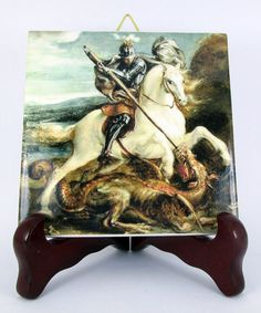 Hey, I found this really awesome Etsy listing at https://www.etsy.com/listing/178389173/saint-george-and-the-dragon-religious