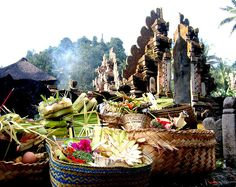 I swear its like my second home. This was such a wonderful experience when I was in Bali - offerings at a temple.