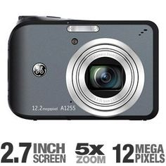 GE A1255 DSC-A1255-BK-US-2 Digital Camera by GE. $69.99. Looking for a dependable and feature-rich cameras for all occasions? The GE A1255 DSC-A1255-BK-US-2 Digital Camera will enlighten your thinking about compact cameras. Packed inside the compact body is an outstanding 12-megapixel sensor fronted with a 5x optical zoom lens for pictures with finest detail from afar to close-up. With the intelligent LCD and intuitive layout, reviewing and editing pictures becomes s...