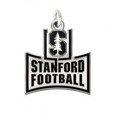 Stanford Cardinal Antique Silver Cutout Charm University Made In Solid Sterling With