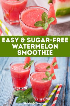 You'll love these Delicious, Refreshing & Easy Watermelon Smoothie Recipe! There is nothing more refreshing than a healthy watermelon smoothie. Healthy watermelon smoothie bowl I Strawberry Watermelon smoothie I Banana Watermelon smoothie   Pineapple Watermelon smoothie   Perfect Summer recipe   best smoothies for breakfast   best drinks with watermelon   smoothie with watermelon   watermelon drinks   how to Make homemade smoothie #watermelon #smoothie #watermelonrecipes #summerrecipes Healthy Watermelon Smoothie, Watermelon Drinks, Watermelon Recipes, Smoothie Drinks, Smoothie Bowl, Healthy Breakfast Recipes, Healthy Drinks, Breakfast Ideas, Healthy Snacks