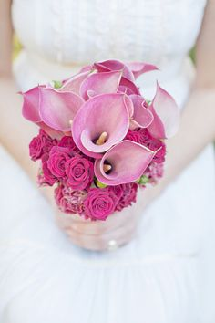 Pink Calla Lilies + Roses - Vintage-Inspired Bride Inspiration by Foundre (Event Design) + Blue Lace Photography - via ruffled