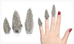 Groupon - $ 9.99 for a Set of 3 Austrian Crystal Nail Rings in Black, Champagne, or White ($ 79.99 List Price). Free Returns.. Groupon deal price: $9.99