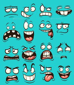 Funny cartoon faces with different expressions. Vector clip art illustration with simple gradients. Each on a separate layer. Funny cartoon faces with different expressions. Vector clip art illustration with simple gradients. Each on a separate layer. Cartoon Faces Expressions, Funny Cartoon Faces, Drawing Cartoon Faces, Cartoon Expression, Cartoon Art, Funny Cartoons, Tired Cartoon, Easy Cartoon, Joker Cartoon
