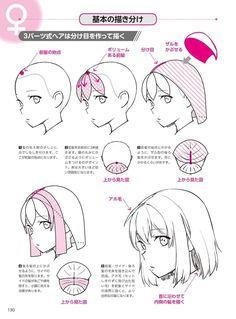Drawing Hair Tutorial, Manga Drawing Tutorials, Drawing Techniques, Drawing Tips, Art Tutorials, Hair Sketch, Anime Drawings Sketches, Foto Art, Digital Art Tutorial