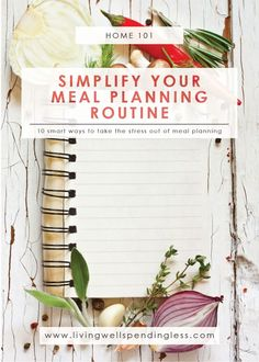 Simple Meal Planning Routine   Meal Planning Guide   Meal Planning Tips   Meal Plan   Menu Planning