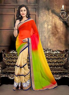 Young India's latest fashion trend: Go Electric with hues of green, red or yellow with a subtle black or light shade.  Only Rs 1875/- @ www.vyomini.com +91-9810188757 / +91-9811438585 #OnlineShopping #LowestPrice #WomensClothing #DiscountsOnline #WomensFashion #AffordableFashion #Shop #Anarkali #lehenga #Saree #Kurti