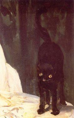 Le chat de l'Olympia de Manet