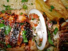 Gefüllter Tintenfisch Meat, Chicken, Food, Food And Drinks, Beef, Meal, Essen, Hoods, Meals
