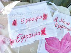 set ladopana zografismena petaloudes Handmade Shop, Reusable Tote Bags, Fun, Shopping, Hilarious
