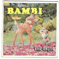 SAWYERS vintage BAMBI view master 3 reel set Dutch foreign Walt Disney RARE cute