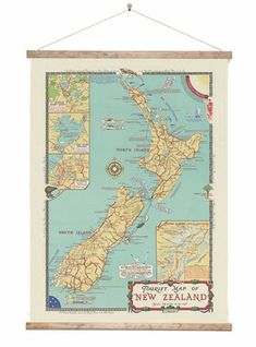 Check out the deal on Vintage NZ Tourist Map at New Zealand Fine Prints Map Canvas, Canvas Prints, Map Of New Zealand, Tourism Department, Lake Wanaka, Tourist Map, Picnic Spot, Wooden Hangers, Wall Maps