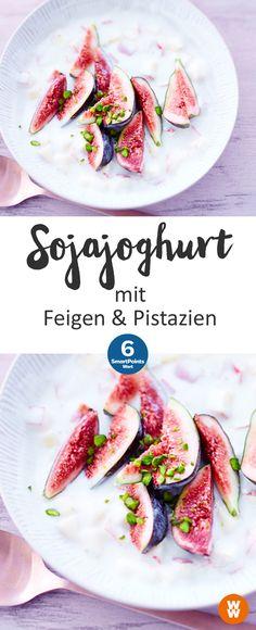 Sojajoghurt mit Feigen & Pistazien | 6 SmartPoints/Portion, Weight Watchers, Frühstück, schnell fertig in 5 min.