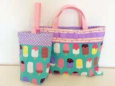 幼稚園バッグとシューズケース
