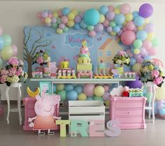 Best Party Ideas Birthday Decoration Peppa Pig Ideas Chuck a party that is straightforward, Peppa Pig Pinata, Fiestas Peppa Pig, Peppa Pig Balloons, Cumple Peppa Pig, Peppa Pig Birthday Decorations, Peppa Pig Birthday Cake, Peppa Pig Party Ideas, Peppa Big, Princess Tea Party
