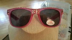 Check out this item in my Etsy shop https://www.etsy.com/listing/451616330/pink-rhinestone-wayfarer-style