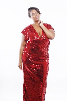 8 Best Plus Size Red Sequin Dresses images | Red sequin ...