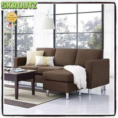 1000 ideas about brown sectional on pinterest brown for Brown microfiber chaise lounger