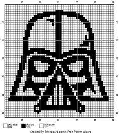 Counted Cross Stitch Patterns, Cross Stitch Embroidery, Embroidery Patterns, Filet Crochet Charts, Knitting Charts, Bobble Crochet, Star Wars Crafts, Cross Stitching, Pixel Art