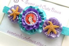 The Little Mermaid Headband by SweetandCuteBows on Etsy, $18.00