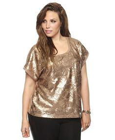 Abstract Sequin Top | FOREVER21 PLUS - 2000040491