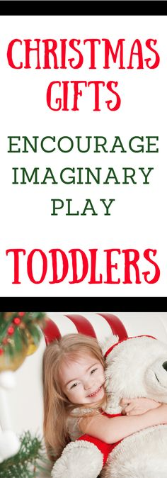 Toys that encourage imaginary play in toddlers make perfect Christmas or birthday gifts. Imaginary play for toddlers helps them develop cognitive and language skills. Simple gift ideas for toddlers that they will enjoy! Best Toddler Toys, Toddler Gifts, Learning Toys For Toddlers, Toddler Learning, Toddler Development, Emotional Development, Preschool Toys, Toddler Preschool, Parenting Books