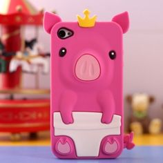3D Cutie Design Pig Pattern Case Cover Protector for iPhone4/4S