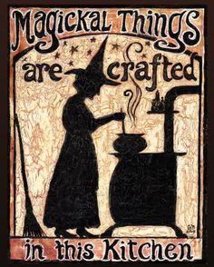 Magische Dinge sind In dieser Küche 8 x 10 drucken Home Decor