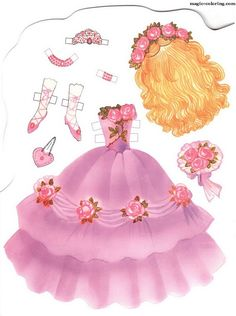MAGIC-COLORING | Paper doll and Dresses