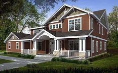- 75117DD | Craftsman, Northwest, 2nd Floor Master Suite, Butler Walk-in Pantry, CAD Available, Den-Office-Library-Study, PDF, Corner Lot | Architectural Designs
