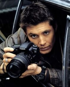 I love beater jackets, cameras and everything about Jensen Ackles
