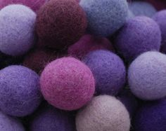 1.5cm 100% Wool Felt Balls 100 Count Assorted by handmadeonly