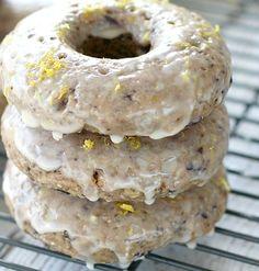 Blueberry Lemon Chia Doughnuts - vegan! and delicious!
