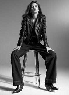 Womens Black Leather Jacket, Leather Blazer, Leather Outfits, Biker Leather, Zoe Saldana Star Trek, Leather Jackets For Sale, Black Jackets, Goth Women, Vintage Silhouette