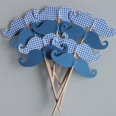 10 décorations moustaches pour petits gateaux (cupcakes toppers )