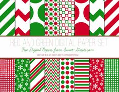 FREE Just Peachy Designs: Free Christmas Digital Paper