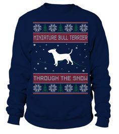 # Miniature Bull Terrier Through The Snow .  Miniature Bull Terrier Through The Snow