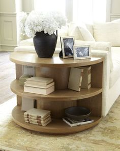 end table with shelves