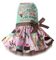 "Embroidered ""Sugar and Spice and Everything Nice"" IceCream Dog Dress for my future baby girl poodle!!"