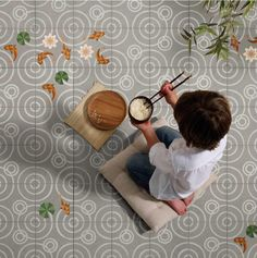 """Drops: """"AN IDYLLIC POND YOU CAN WALK ON"""" // Drops is the name of the first collection of cement tiles designed by MUT for enticdesigns."""