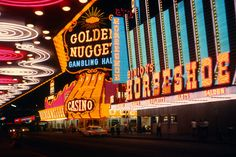 Fremont street continues to be the mecca of entertainment in Vegas, 1966.